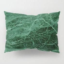 Dark emerald marble texture Pillow Sham