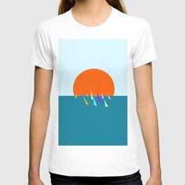 Minimal regatta in the sun T-shirt