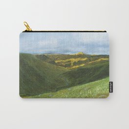 View from Ben Lawers over Loch Tay - Scotland / Oil Painting Carry-All Pouch