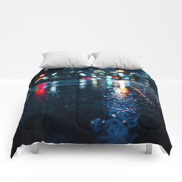 Cold City Lights Comforters