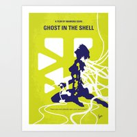 ghost in the shell Art Prints featuring No366 My Ghost in the Shell minimal movie poster by Chungkong