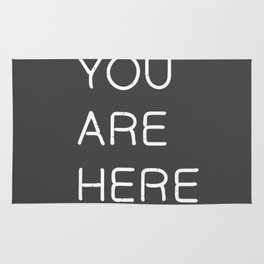 You Are Here-Neon Lights Rug
