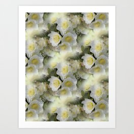 flowers -12- seamless pattern Art Print