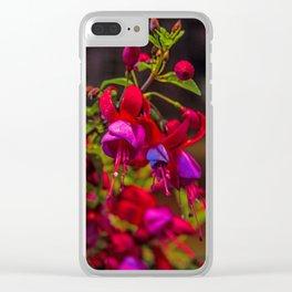 Fuchsia Dreams Clear iPhone Case