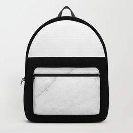 Marble Black White Backpack