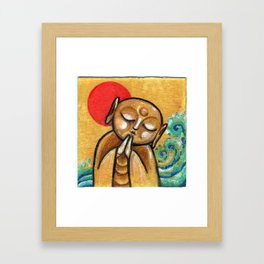 Pray 4 Japan Jizo Bosatsu Framed Art Print