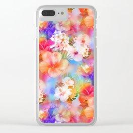 Tropical Hawaiian Garden Clear iPhone Case