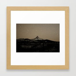 Mt. Hoodoo Framed Art Print