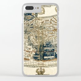 World Map 1482 Clear iPhone Case