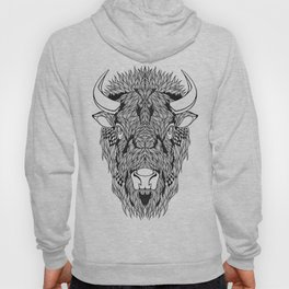 BISON head. psychedelic / zentangle style Hoody