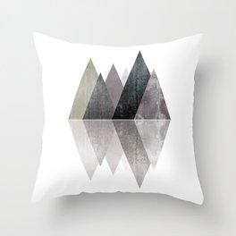 Modern Scandinavian Mountain Throw Pillow