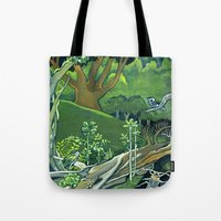 giants Tote Bags featuring Fallen Giants by Patricia Howitt