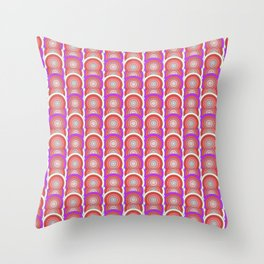 Rainbow Eights, Because 8 is Great Optical Illusion Throw Pillow