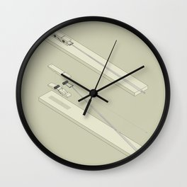 Clothespin shotgun Wall Clock