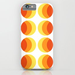 Summer colors. Hot sunshine simple geometric pattern. iPhone Case