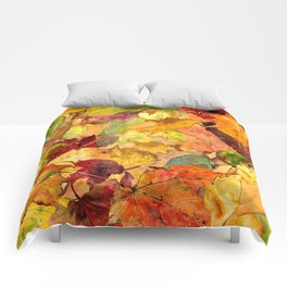 The Fall Forest Floor Comforters