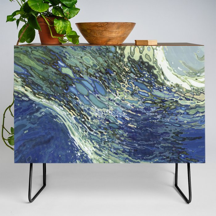 Ebb and Flow Splashing Wave Juul Art Credenza