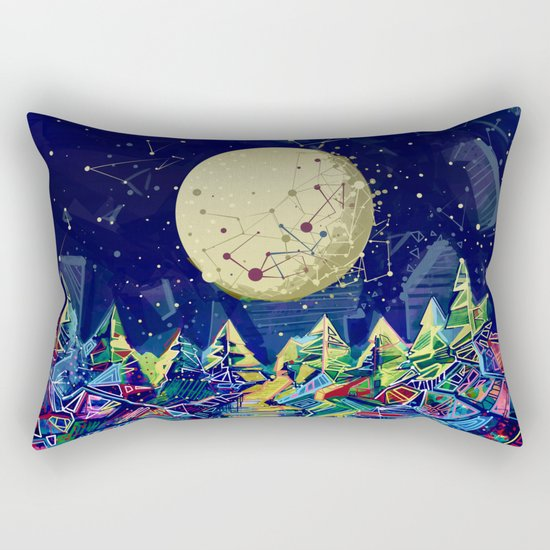 abstract forest Rectangular Pillow