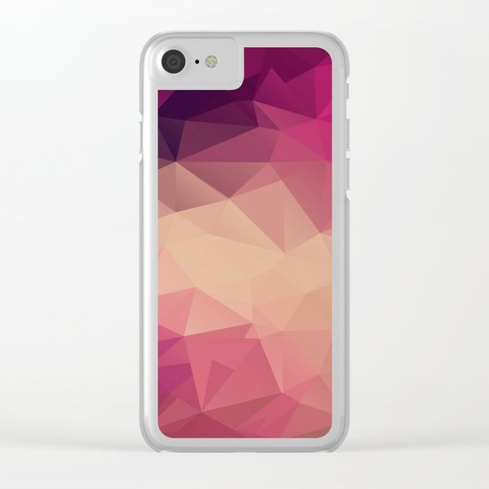 Polygon picture . Sunset. Clear iPhone Case