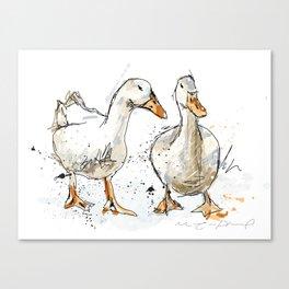 Gooses friends Canvas Print
