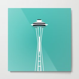 Space Needle Pop Art - Seattle, Washington Metal Print