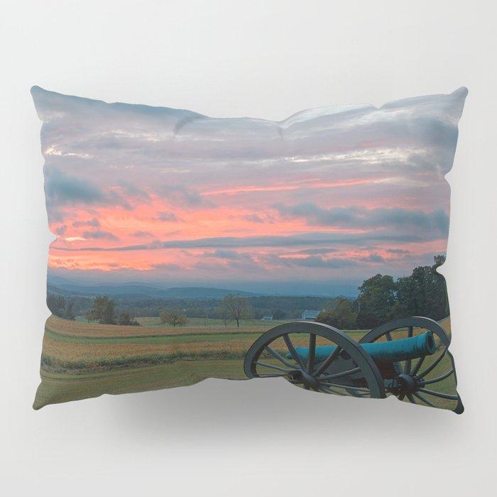 Gettysburg Cannon Sunset Pillow Sham