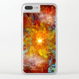Sun and Moons Clear iPhone Case