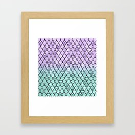 Mermaid Princess Glitter Scales #2 #shiny #pastel #decor #art #society6 Framed Art Print