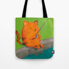 A Purrr-fect Afternoon Fishing Tote Bag
