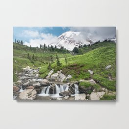 Mt. Rainier, Edith Creek Metal Print