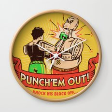 Punch'em Out Wall Clock