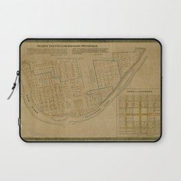Map Of Allegheny 1863 Laptop Sleeve
