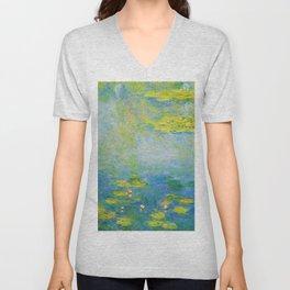 12,000pixel-500dpi - Waterlilies, 1906 - Claude Monet Unisex V-Neck