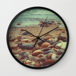 Throwing Stones Wall Clock