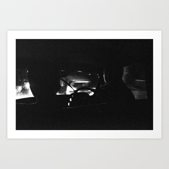 Dark ride Art Print