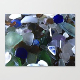 Sea Glass Assortment 4 Canvas Print