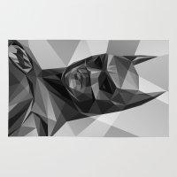 bat man Area & Throw Rugs featuring Bat man by Filip Peraić
