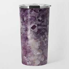 Deep Purple Quartz Crystal Travel Mug