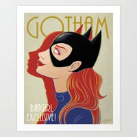 gotham Art Prints featuring Gotham by SatrunTwins