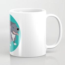 QubeDogs - Blue Staffy Coffee Mug