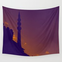 islam Wall Tapestries featuring Purple Mosque by LightCircle