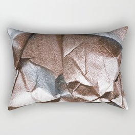 Rose Gold and Silver Abstract Rectangular Pillow