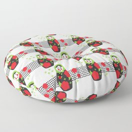 Pop-art Russian Doll Matryoshka Floor Pillow