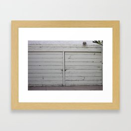 Los garajes blancos. Framed Art Print