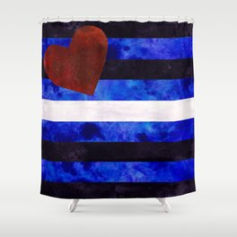 Leather Pride Flag Shower Curtain