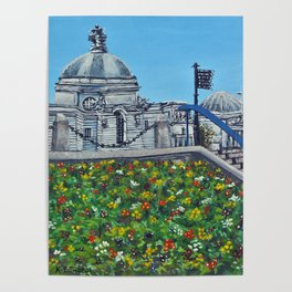 Spring at City Hall, Cardiff Poster