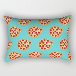 Fun salami pizza pie pattern Rectangular Pillow