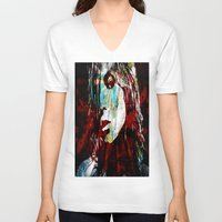 sunshine V-neck T-shirts featuring Sunshine by Robin Curtiss