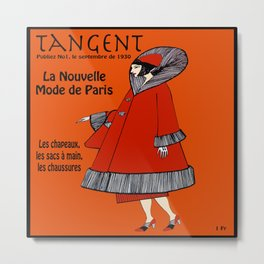 Tangent Red  Metal Print