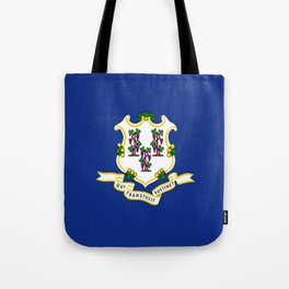 flag Connecticut,america,us,new England,constitution,Connecticuter,Yale,Nutmegger,Hartford Tote Bag